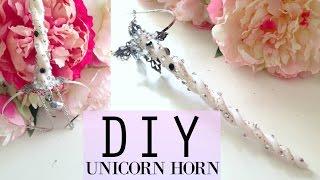 EASY!! DIY Unicorn Horn Headpiece Tutorial   Pinterest Inspired