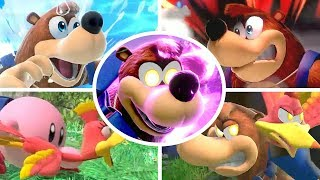Banjo Kazooie All Victory Poses, Final Smash, Kirby Hat & Palutena Guidance in Smash Bros Ultimate
