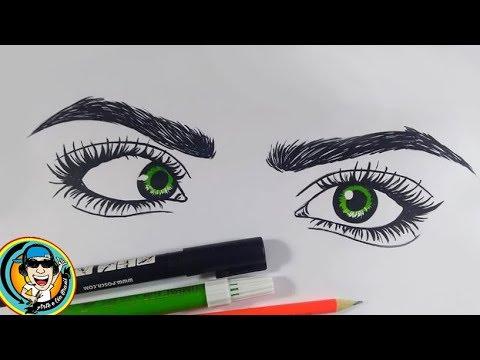 Como Desenhar Olhos Tumblr Arteeciabrasil Youtube