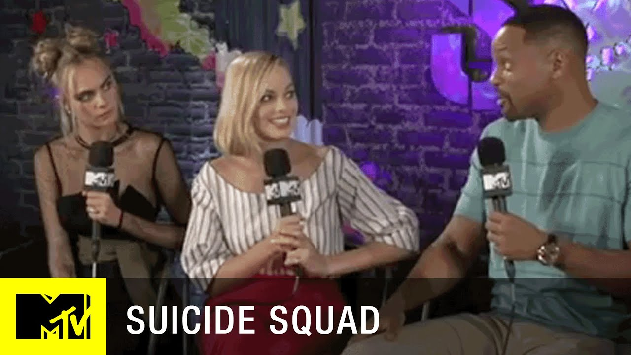 Suicide Squad Cast Tattooed Each Other?!   Full Interview w/ Josh Horowitz   MTV