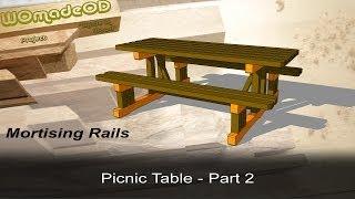 How To Build A Solid Picnic Table - Mortising