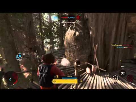 Star Wars Battlefront 125 Nien Nunb killstreak!!!