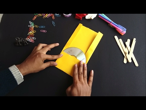 How to Make CD/DVD Case Out of Paper in 1 Minute