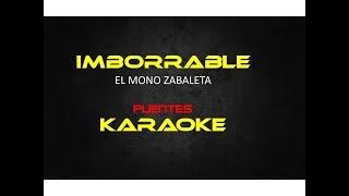 Imborrable karaoke El Mono zabaleta