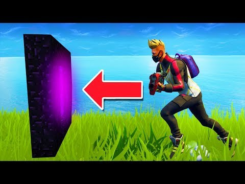 How To Make a Portal to the Fortnite Dimension in Minecraft Pocket Edition (Concept)