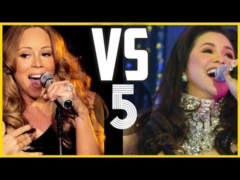 Mariah Carey VS Regine Velasquez ULTIMATE VOCAL BATTLE (C#5 - Bb5 - A6)