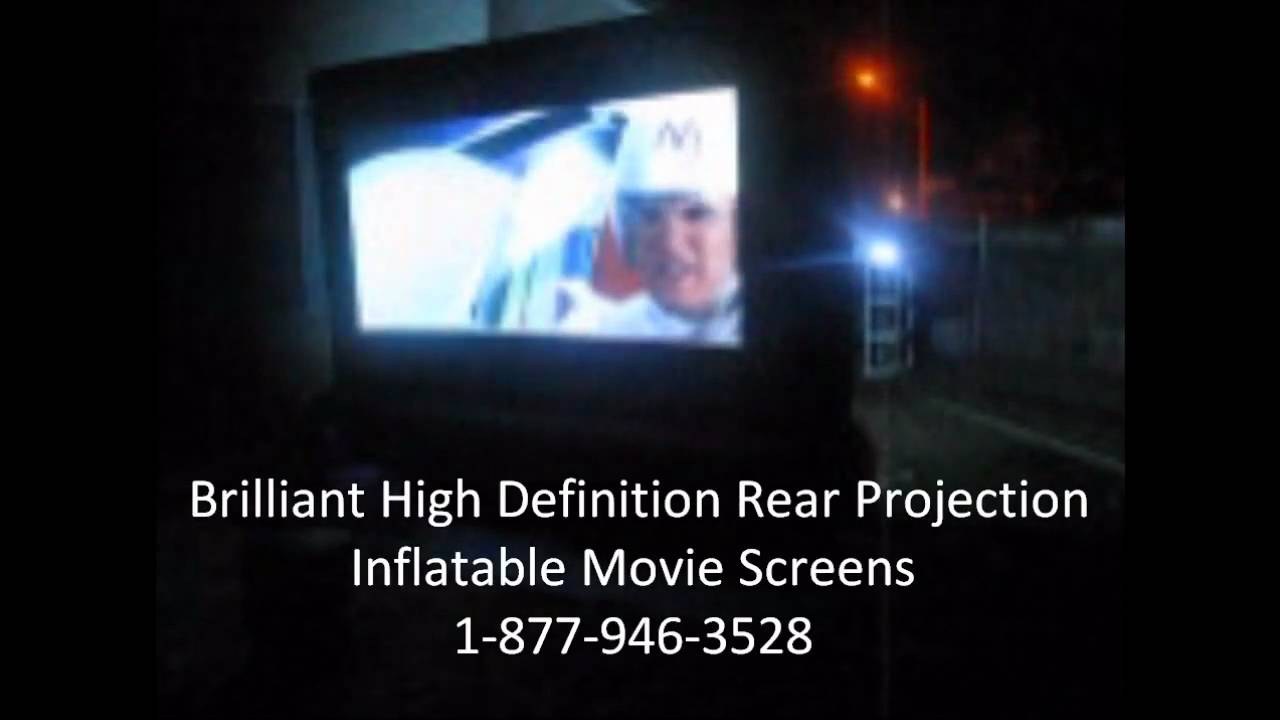high definition rear projection outdoor inflatable movie screen