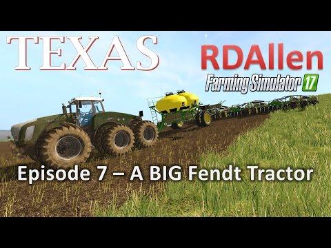 Farming Simulator 17 MP Texas E7 - A BIG Fendt Tractor!