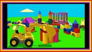 Bloque de construcción de la CIUDAD de Compilación de dibujos animados de Camiones de dibujos animados para los Niños.De Construcción De Los Niños.Videos para Niños