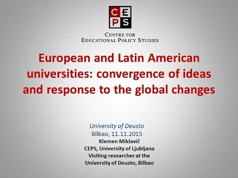 Klemen Miklavich. European and Latin American universities: convergence of ideas and response to ...