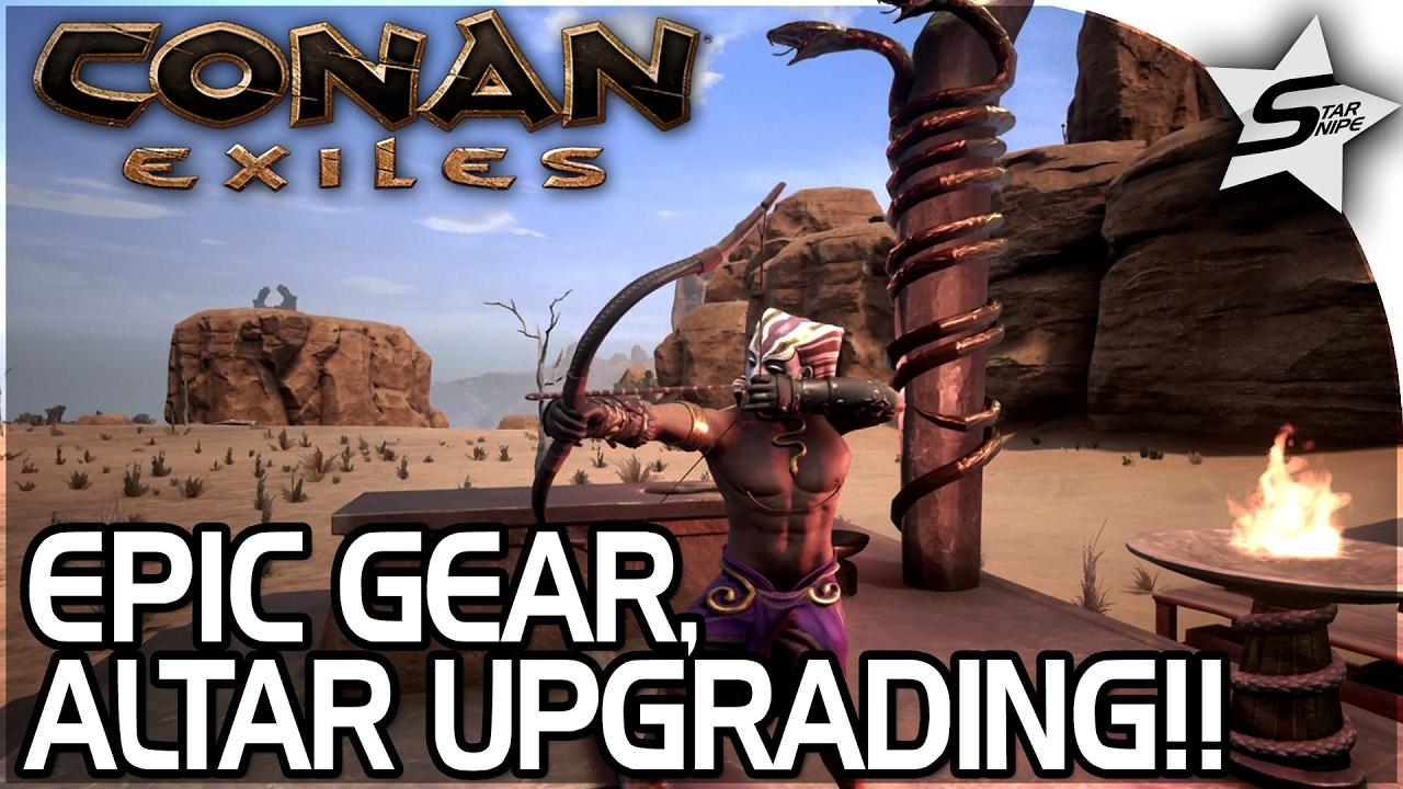 EPIC SET GOD ARMOR, UPGRADED ALTAR, AMAZING POISON SNAKE ARROWS!! - Conan  Exiles Gameplay Part 14