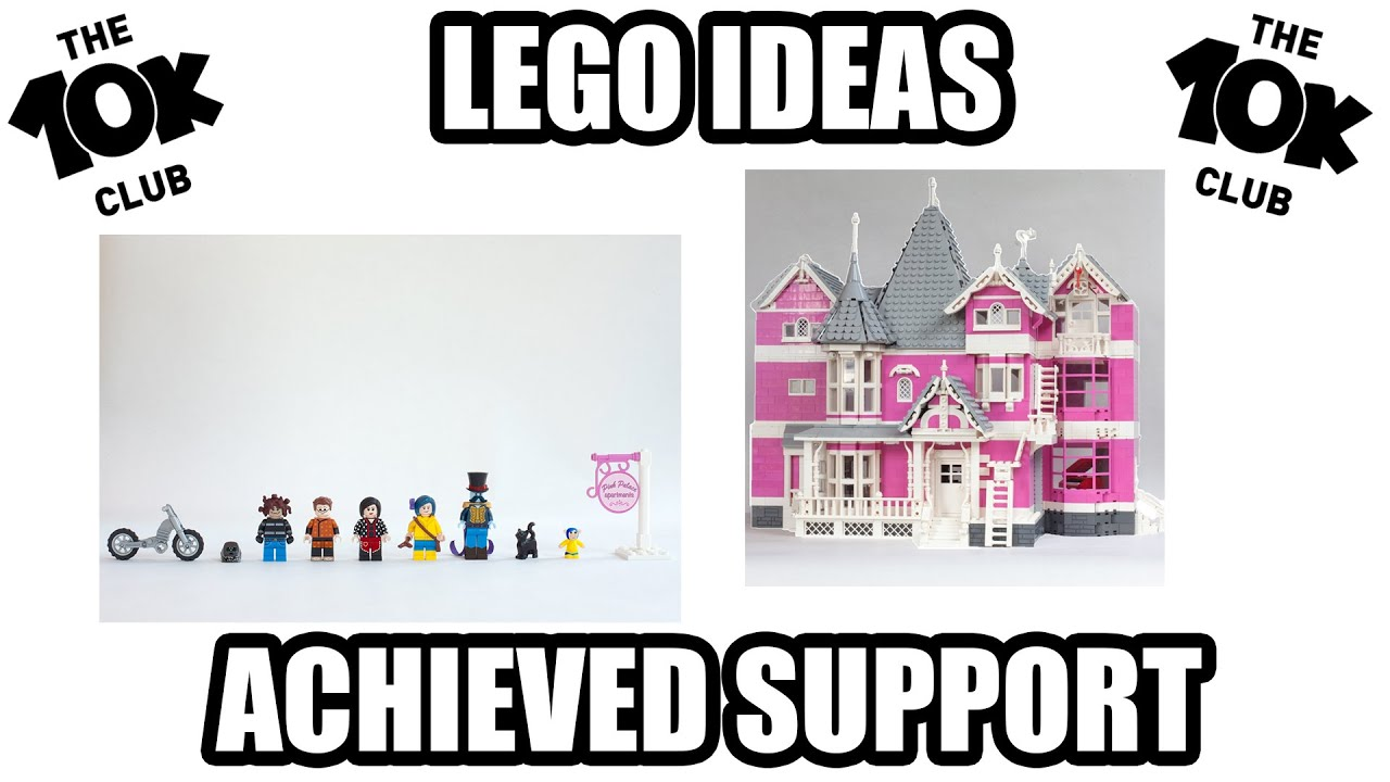 Lego Ideas Coraline S Pink Palace Apartments 10k Achieved Youtube