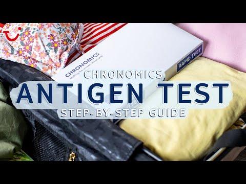 Chronomics antigen (rapid flow) test step-by-step guide   TUI help & FAQs