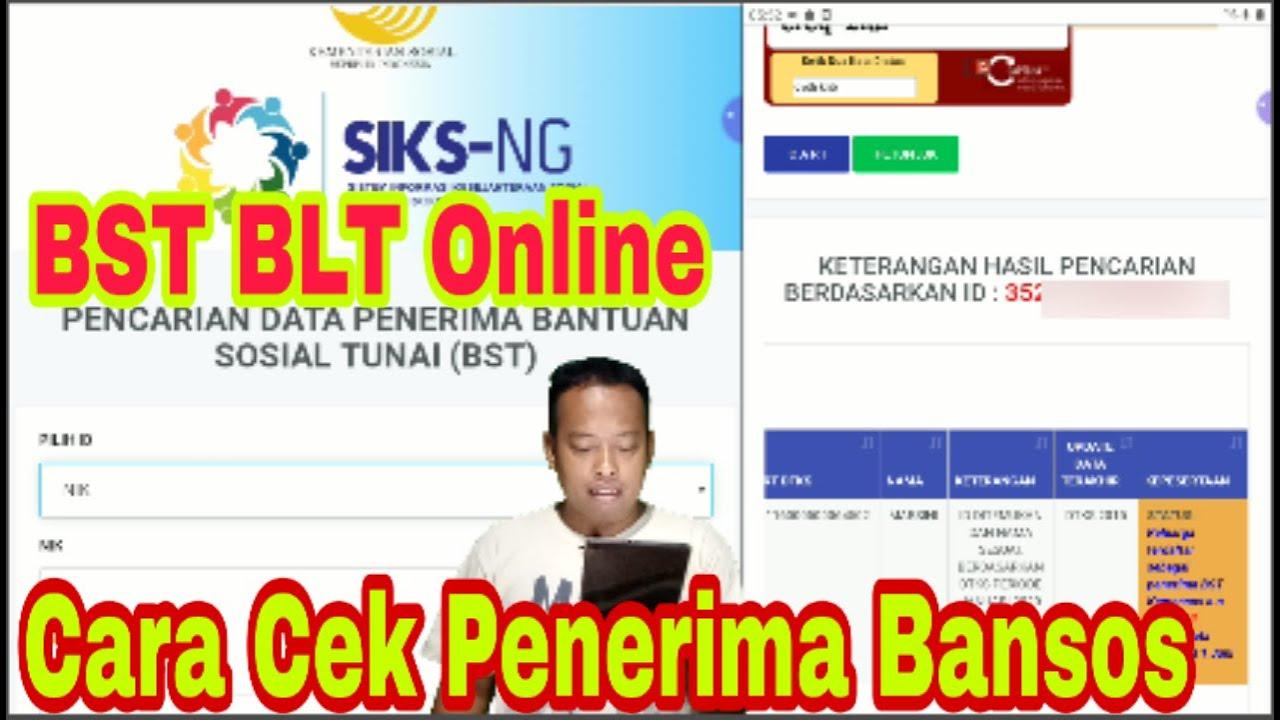 Cara Cek Bansos Lewat Ktp Daftar Bansos Online Untuk Bansos Kemensos Di Cekbansos Siks Kemsos Go Id Youtube