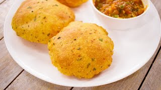 करारी आलू की पूरी की रेसिपी | aloo puri / potato alu flavor poori tiffin recipe | CookingShooking