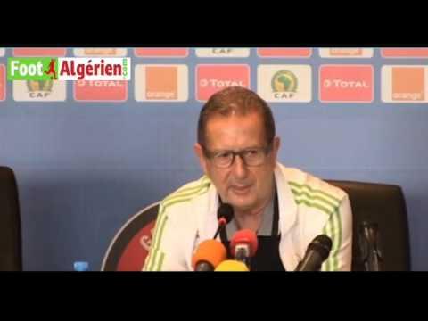 CAN-2017 : Conférence de presse du sélectionneur de l'Algérie Georges Leekens