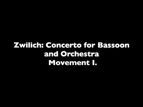 Zwilich: Concerto for Bassoon and Orchestra Movement I.