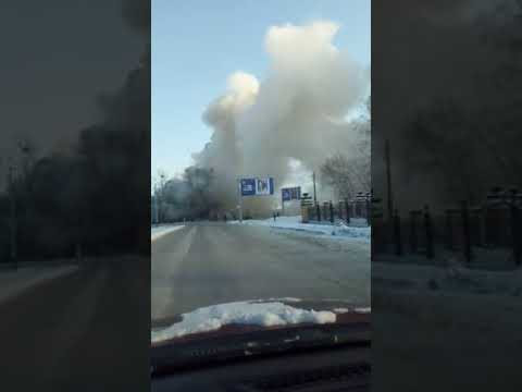Барнаул. Пожар на пл. Свободы