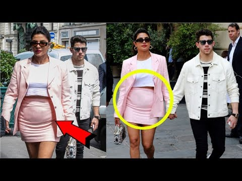 Priyanka Chopra Flaunts Her PREGNANT Baby Bump With Nick Jonas In Paris