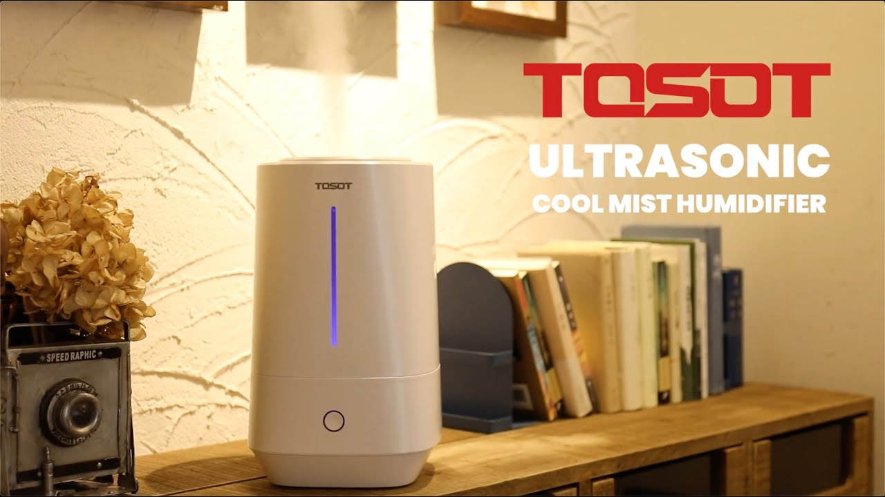 TOSOT Ultrasonic Cool Mist Top Fill Humidifier video thumbnail