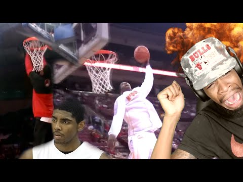 """HOW IS HE DUNKING LIKE THAT!? KYRIE """"THOT KING"""" IRVING HIGH SCHOOL MIXTAPE REACTION!!"""