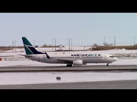 WestJet Boeing 737-8CT (C-GDMP) Taking Off From Calgary Airport