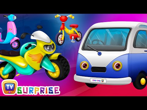 Surprise Eggs Toys - PASSENGER Vehicles for Kids | Motor Cycle, Car & more | ChuChuTV Egg Surprise