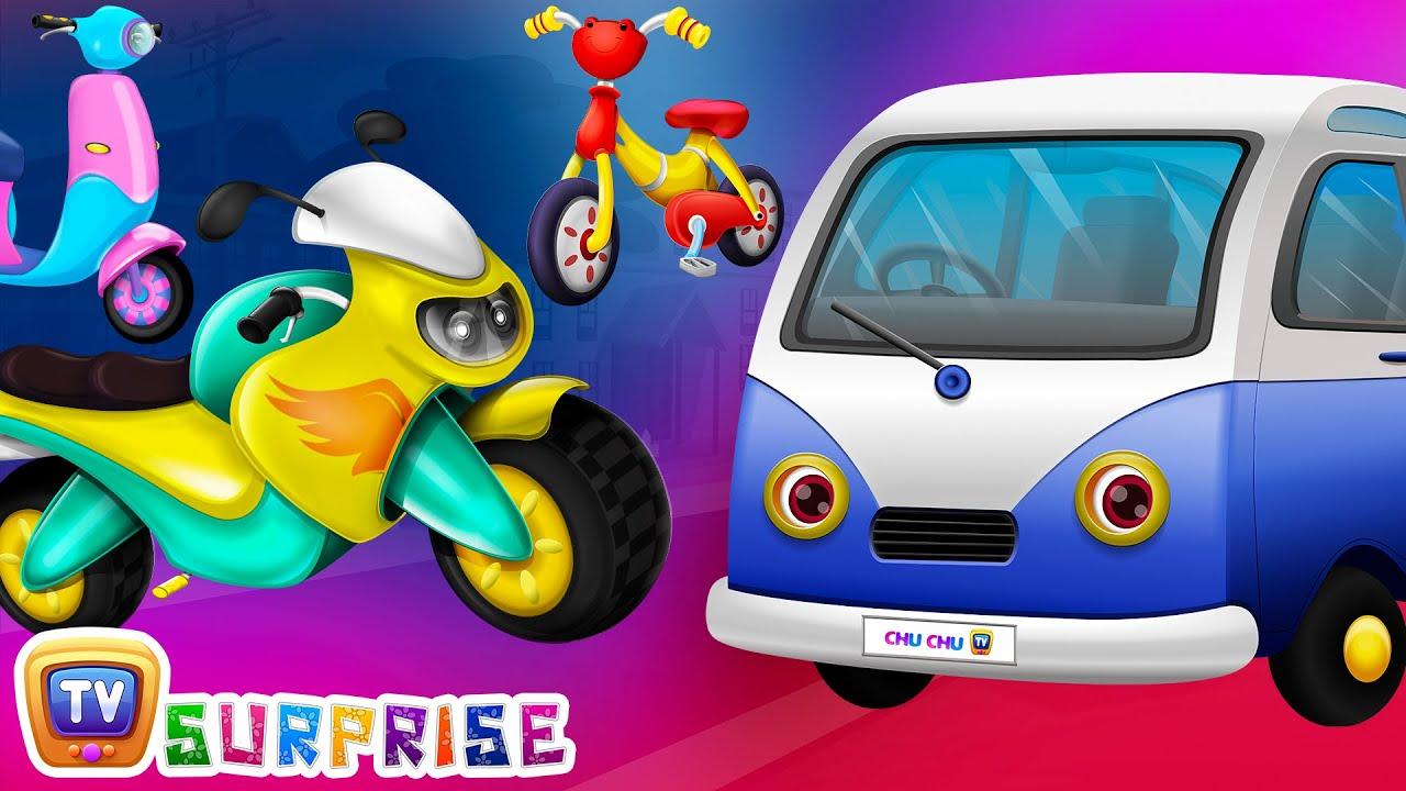 Surprise Eggs Toys - PASSENGER Vehicles for Kids   Motor Cycle, Car & more   ChuChuTV Egg Surpri