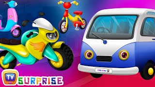 Surprise Eggs Toys - PASSENGER Vehicles for Kids | Motor Cycle, Car & more | ChuChuTV Egg Surprise thumbnail