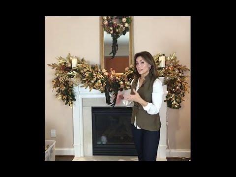Decorating for Christmas with Lisa Robertson : The Living Room Mantel