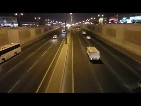 Following the speed limit Salwa Road Qatar