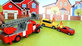 ТехноПарк. Скорая помощь и пожарная машина  Мультфильм про машинки