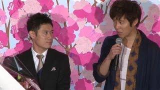 映画「ボクたちの交換日記」の初日舞台あいさつが3月23日、東京都内で行...