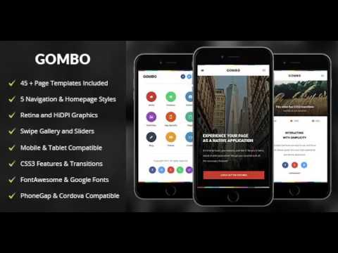 Gombo | Mobile & Tablet Responsive Template | Themeforest Website ...