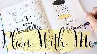 Plan With Me February 2017 ❤ Bullet Journal   ApuntoC