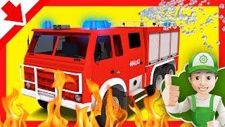 Camion Pompier en francais. Dessin animé voiture Pompier Sam. Camion Pompier pour enfant Dessin.