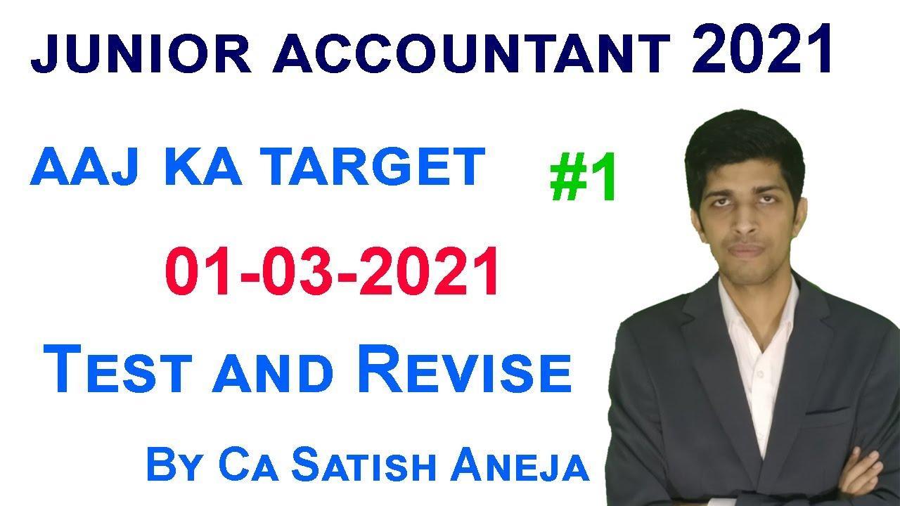 leverage day 1 target !! jvvnl AO & Junior accountant 2021 !! #jvvnlvacancy2021 By CA Satish Aneja