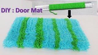 Door mat making with wool    DIY Rugs    Genius craft idea #cool craft idea