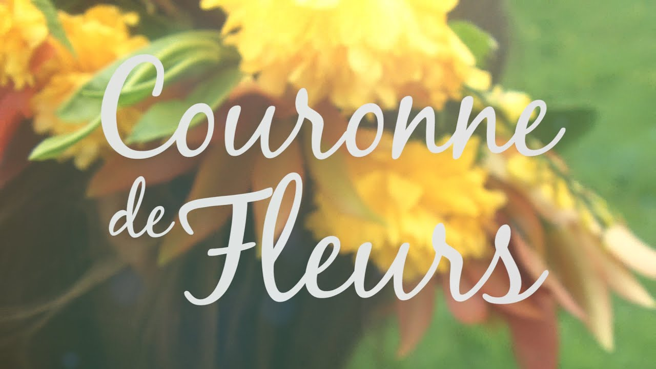 diy tutorial couronne de fleurs fraiches youtube. Black Bedroom Furniture Sets. Home Design Ideas