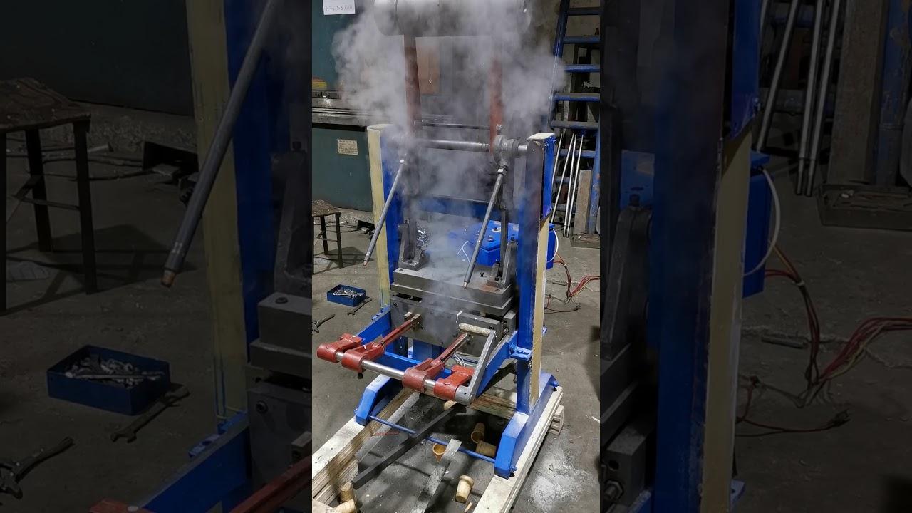 DST-10 Ice cream waffle cone making machine testing video