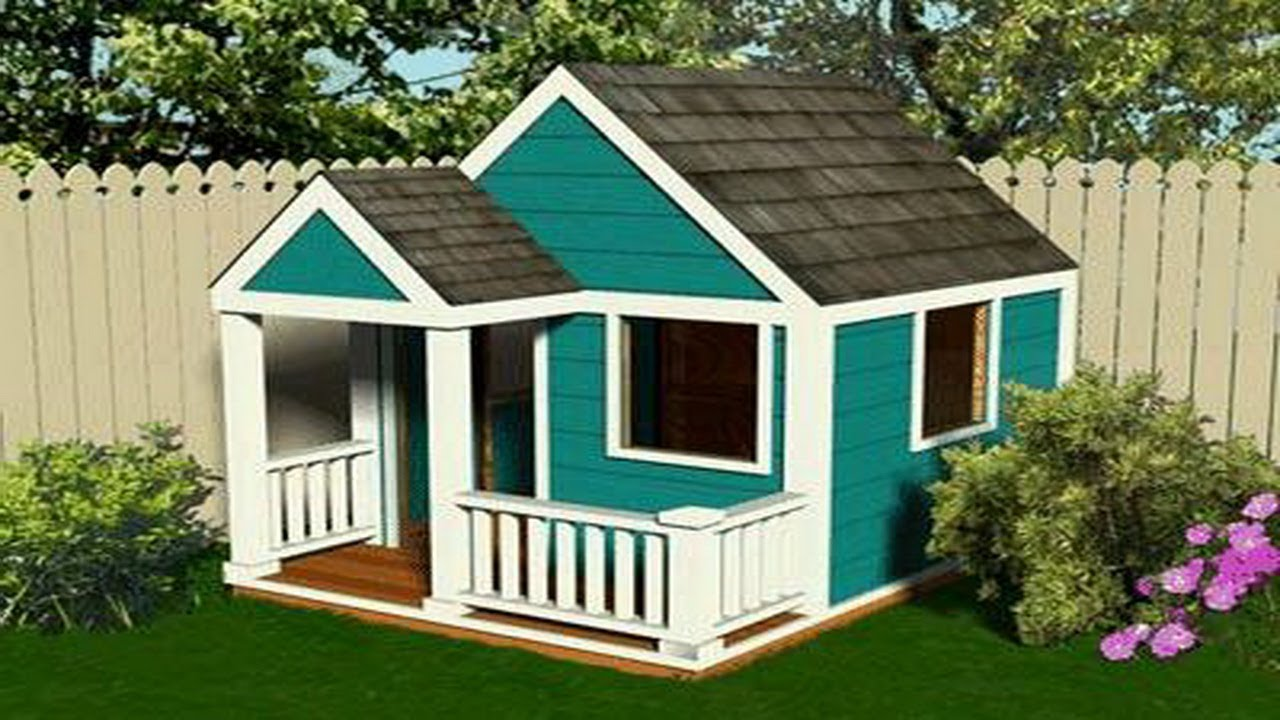 Wooden playhouse plans howtospecialist how to build step for Free playhouse plans