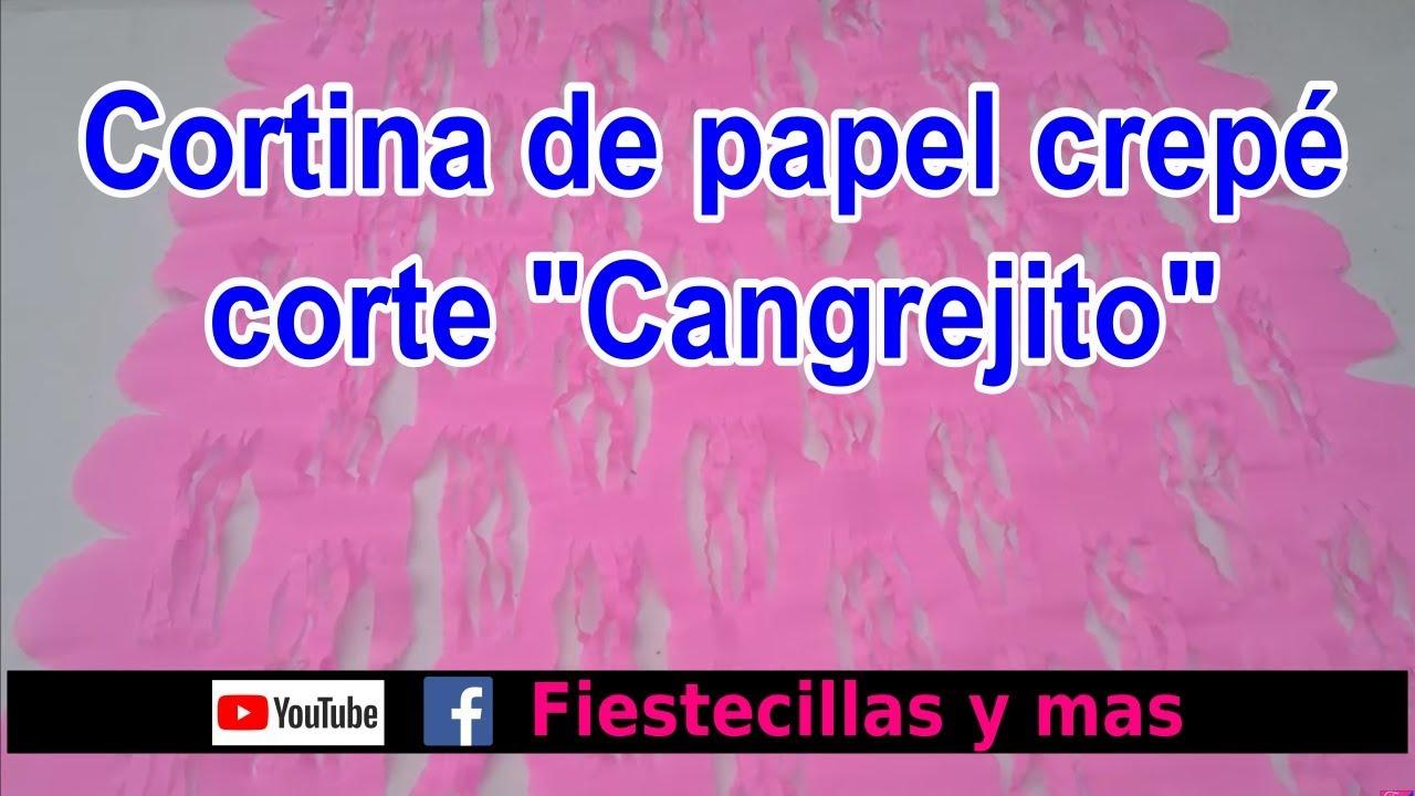 Cortina de papel crepe corte Cangrejito Curtain of