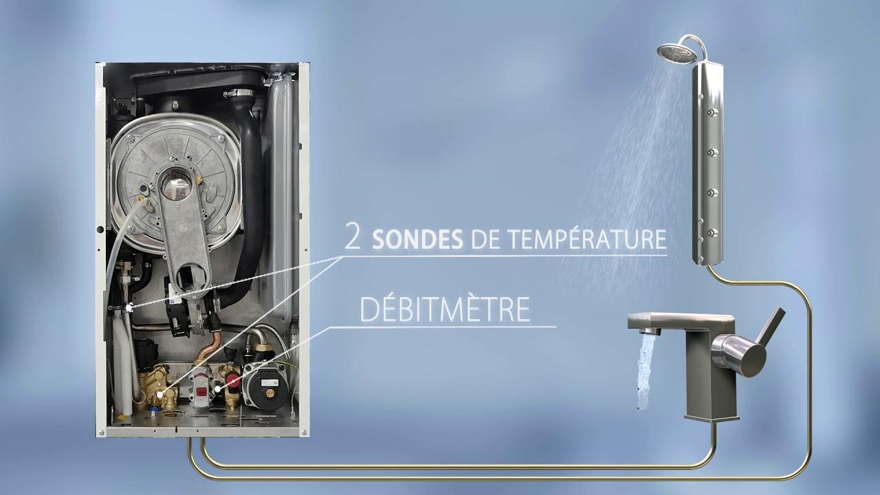 Coude suppl/émentaire 90/° coaxial 60//100 mm pour chaudi/ère /à condensation