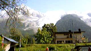 Vue du Mont Blanc depuis le camping