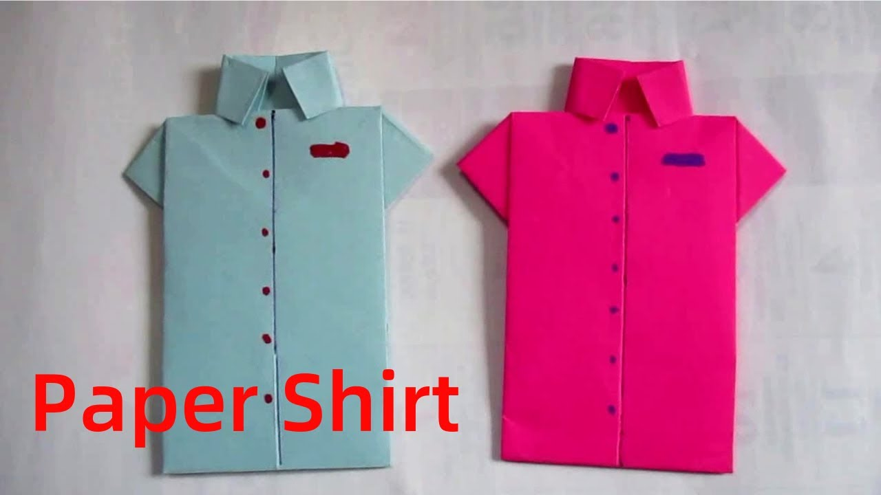 Paper Shirt How To Make A Shirt By Paper Folding Youtube