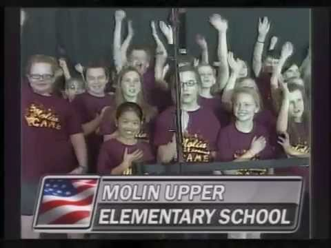 Molin Upper Elementary School - US Anthem - April 12, 2014