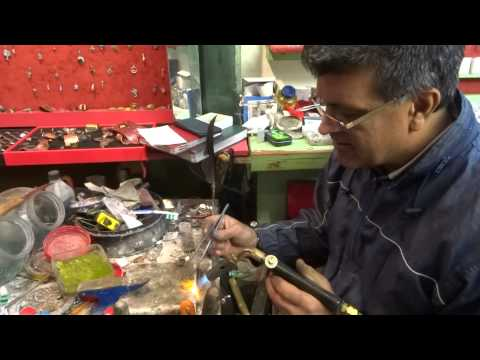 The man who makes beautiful Silver Finger Rings at