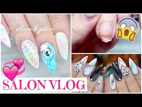 Salon Vlog | HIPPIESHAKE, MY LITTLE PONY NAILS AND FIXING A BROKEN NAIL