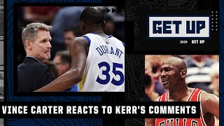 Reacting to Steve Kerr saying Kevin Durant is 'more gifted' than Michael Jordan | Get Up