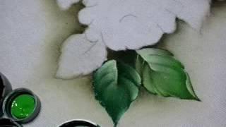 Solene Fernandes pintura de folhas e gotas d'agua
